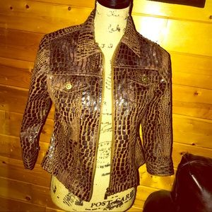 100% Leather Jacket Brown, PS